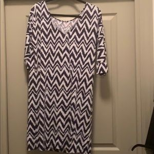 Lilly Pulitzer Chevron Dress 3/4 sleeve
